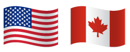 Image of an American and Canadian flag